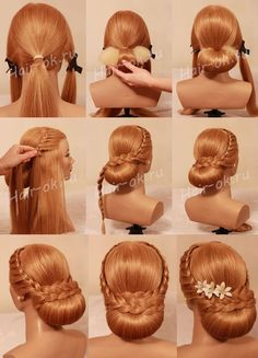 By step by step 👣 diycollage pivotpoint learn forward 📸 Pinar Yildirim_ . - By step by step 👣 diycollage pivotpoint learnforward 📸 Pinar Yildirim_ – Artofit 👣 Step - Braided Chignon, Braided Hairstyles Updo, Easy Hairstyles, Lace Braid, Step By Step Hairstyles, Little Girl Hairstyles, Hairstyles For School, Curly Hair Styles, Medium Hair Styles