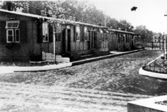 Auschwitz, Poland, New SS barracks in one of the camps.