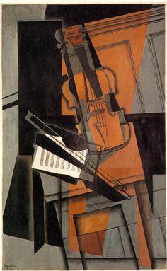 The violin, 1916 by Juan Gris. Cubismo Sintético. naturaleza muerta