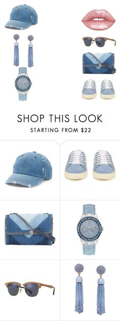 """""""streetwear 2"""" by chimy333 on Polyvore featuring Mudd, Yves Saint Laurent, STELLA McCARTNEY, GUESS, Ray-Ban, Humble Chic and Lime Crime"""
