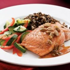 Salmon with Pepita-Lime Butter for Two Recipe
