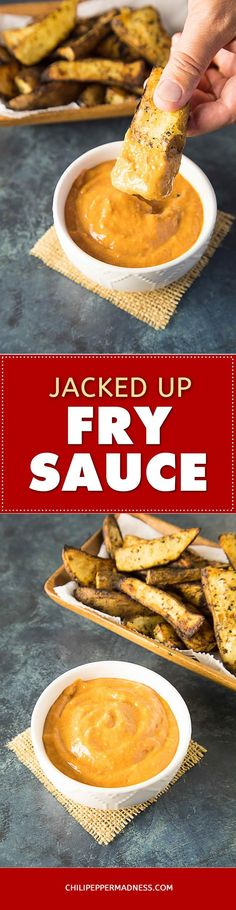 """If you love """"fry sauce"""" with your french fries, you'll love this spicy version made with extra hot giardiniera. Here is the recipe. Get those fries ready! Awesome with any potato dish."""