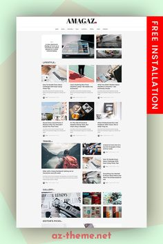 Amagaz is a modern WordPress theme that lets you write articles and blog posts with ease. We offer great support and friendly help! This theme is excellent for a news, newspaper, magazine, or publishing site. Make your content more appealing, engaging and usable. Get Amagaz today and be setup in minutes! #blog #news #magazine