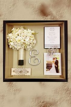 The Wedding Shadow Box Or How To Keep Your Memories ★ See more: www. The Wedding Shadow Box Or How To Keep Your Memories ★ See more: www. Before Wedding, Post Wedding, Fall Wedding, Diy Wedding, Wedding Favors, Wedding Bouquets, Wedding Gifts, Wedding Flowers, Dream Wedding