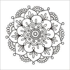 'Simple Mandala Flower' Spiral Notebook by mermaidnatalie – Today Pin – Tattoo Pattern