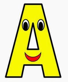 Vocal A mayúscula. Color amarillo.
