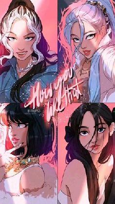 Arte Digital Fantasy, Digital Art Girl, Itslopez, Blackpink Poster, Lisa Blackpink Wallpaper, Profile Wallpaper, Wallpaper Lockscreen, Kpop Drawings, Black Pink Kpop