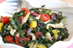 Rainbow Kale Salad - This is a colourful salad packed full of vitamins and antioxidants with a tahini dressing that gives a creamy texture, this salad is ideal for any weather and makes a great accompaniment to any dish!