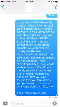 idk how many ppl have commented on this before but i feel like it needed to be said (my original text message to a certain bestie who is mad at me for pointing this out haha oops) #RemusLupin #howdare