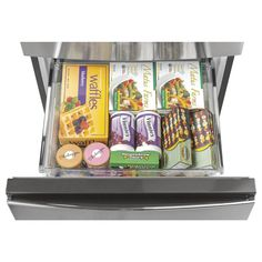 Buy the GE Stainless Steel Direct. Shop for the GE Stainless Steel 24 Inch Wide Cu. Energy Star Certified Bottom Mount Refrigerator with Temp Select Zone Crisper and save. Counter Depth Refrigerator, Bottom Freezer Refrigerator, Stainless Steel Refrigerator, Stainless Steel Doors, Blueberry Waffles, Door Storage, Storage Rack, Small Space Storage