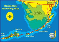 Snorkeling Florida Keys Areas Map - Get To The Best Reefs By Boat - We have really enjoyed our snorkeling Florida Keys experiences, and have snorkeled all over, including Key Largo, Key West, and all the keys between that we call the Middle Keys. The keys have the third longest barrier reef in the world, and the only tropical coral reefs in the contiguous states.