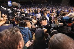 Joe Maddon and the media/CUBS WIN the NLDS v STL, Oct 12, 2015