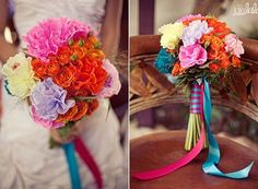 la fiesta :: wedding inspiration :: old town, san diego Mexican Paper Flowers, Tissue Paper Flowers, Wedding Bouquets, Wedding Flowers, Bear Wedding, Spanish Wedding, Real Flowers, Reception Decorations, Wedding Inspiration