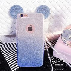 Cool Phone Cases 613615517950988140 - Minnie Mickey Mouse Ears silicone Glitter Gradient Case for iPhone 4 5 6 7 Plus Case Cover phone cases Source by gomesstessy Iphone 8, Funda Iphone 6s, Coque Iphone 5s, Diy Iphone Case, Coque Ipad, Apple Iphone 5, Iphone Phone Cases, Iphone 7 Plus Cases, Iphone Case Covers