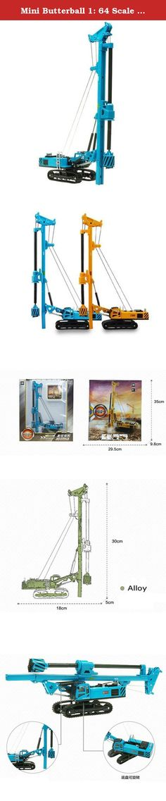 Mini Butterball 1: 64 Scale Rotary Drilling Rig Model Toy Alloy Metal Engineering Construction Vehicles Truck Decoration Classic Toys Education Kids Toy Blue. Product Description: √ This truck model is able to help your kids become more attuned to slight variations in color and improve memory. √ Inspiring toy for kids, you can teach your chlid about different construction techniques. √ Working parts and authentic detailing set the standard for form and function. √ With a distinctive paint...