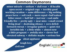 Common Oxymorons