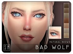 Bad Wolf Natural Brows by Screaming Mustard at TSR via Sims 4 Updates