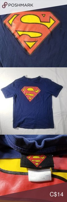 Shop Kids' DC Comics Blue size Tees - Short Sleeve at a discounted price at Poshmark. Description: This shirt features of the Superman logo. Superman T Shirt, Superman Logo, Dc Comics Shirts, Logo Color, Plus Fashion, Fashion Trends, Tees, Sleeve, How To Wear