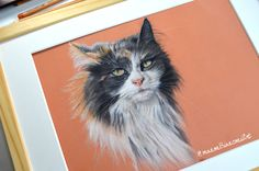 Cannelle, My cat, 30 x 40 cm,  Commissions : www.facebook.com/ManonBianconiArt.Animalier  #Art #Artist #artanimalier #Artanimal #portraitanimalier #petanimal #figurativ #portrait  #animal #cats #chat #realism #polychromos #colors #crayons #pastelmat #fabercastell #dessin #drawing #illustration #Pet #manonbianconiart
