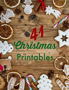 41 Christmas Printables - extensive list of everything you'll need to prep for Christmas!