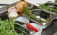Ingredientes para o azeite temperado
