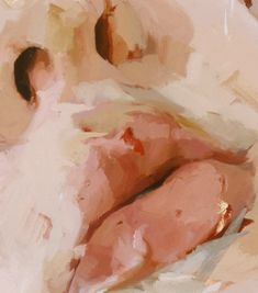 nezart design (Jenny Saville - Hyphen (detail) - rough thick layers of pants and contrasting tones. Painting Inspiration, Art Inspo, A Level Art, Art Et Illustration, Illustrations, Aesthetic Art, Cream Aesthetic, Painting & Drawing, Mouth Painting