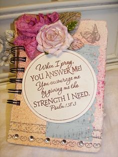 Scripture journal - last project on page