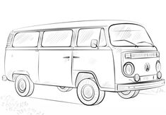 VW Bus Ausmalbild