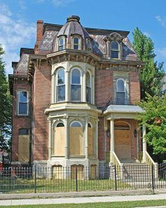 John P. Fiske House located in the Brush Park historic district in Detroit, MI