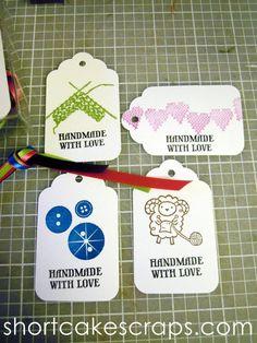"""Handmade with Love"" tags"