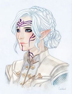 """taylorkrios: """" I commissioned the talented @needapotion to draw my Inquisitor, Saria Lavellan! It is amazing and perfect in every way, thank you so much :) """" I'm glad that you like it! Thank you for..."""