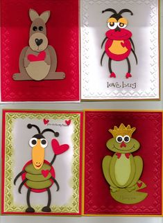 Punch art Valentines... so adorable!