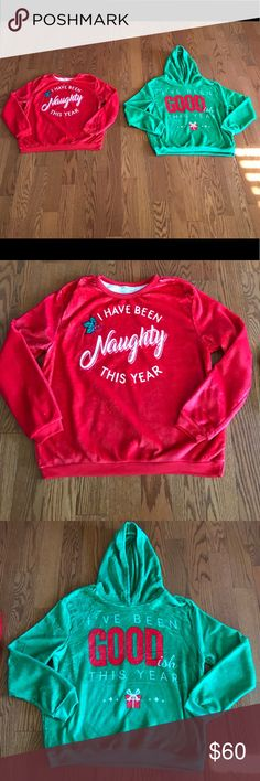 NWT Plush Naughty & Nice Sweater Set Z Sweaters