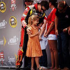 Jeff & Ella Before Driver Intros at Michigan l www.JeffGordon.com