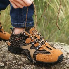 Fashion Men Mesh Hiking Slip Resistant Outdoor Sport Sneakers - NewChic Mobile