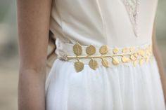 Ceinture, ceinture à la taille Large feuille d'or, ceinture de Style grec, accessoires de mariée, feuille géante ceinture, ceinture énorme feuille, Nature inspiré, de feuilles d'olive
