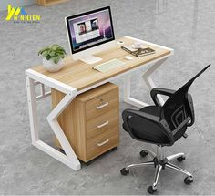 Modern Office Table, Office Table Design, Office Furniture Design, Space Saving Furniture, Small Furniture, Office Interior Design, Built In Computer Desk, Study Table Designs, Welded Furniture