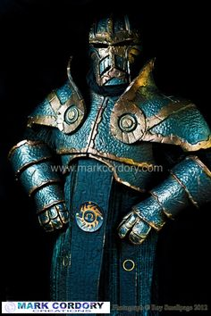 Iron Golem costume made for LARP by Mark Cordory Creations (Photo courtesy and © Roy Smallpage)