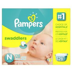Giant Pack Baby Diapers: Giant Pack Pampers Swaddlers Diapers Size N Giant ...