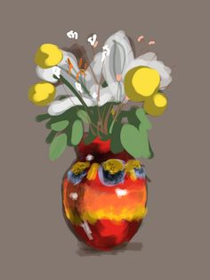 Vase by Thomas Richard Berry, via Flickr Painting & Drawing, Brushes, Berries, Vase, Paintings, Drawings, Ipad, Oil, Inspiration