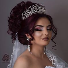 Wedding hair and makeup image by Lumypettyt on Makeup Bridal Hair Buns, Bride Makeup, Wedding Hair And Makeup, Hair Makeup, Quince Hairstyles, Bride Hairstyles, Bridal Hair Inspiration, Quinceanera Hairstyles, Wedding Hair Down