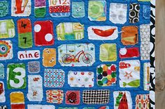 I-spy quilt. I love this idea!