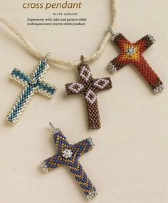 Kelly from off the beaded path in forest city north carolina shows peyote cross beadwork june 2013 page 50 aloadofball Choice Image