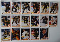 1990-91 Upper Deck UD Vancouver Canucks Team Set of 17 Hockey Cards #VancouverCanucks