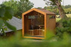 Arbor Range of Luxury Outdoor Saunas — Heartwood Saunas Sauna Shower, External Cladding, Sauna Design, Finnish Sauna, Outdoor Sauna, Led Down Lights, Aspen Wood, Cedar Shingles, Saunas