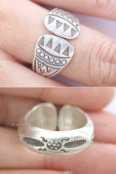 Thai Karen Hill Tribe Silver Rings-Karen Thai Silver Ethnic Tribal Silver Ring