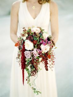 vibrant autumn colored bridal bouquet by Timo Bolte  © Melanie Nedelko fine art photography