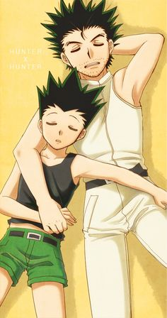 Thought this was sweet… Gon and Ging ~Hunter X Hunter
