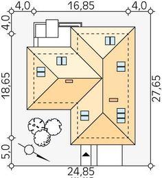 DOM.PL™ - Projekt domu MT Ambrozja 2 CE - DOM ST9-25 - gotowy koszt budowy Dom, Floor Plans, How To Plan, Houses, Floor Plan Drawing