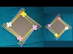 (Birthday Gift Idea/ Room Decoration)Made With Color Pape… DIY: Easy Photo Frame Tutorial! (Birthday Gift Idea/ Room Decoration)Made With Color Paper! Diy Birthday, Birthday Gifts, Birthday Parties, Mini Albums Photo, Photo Frame Decoration, Paper Photo Frame Diy, Photo Frame Ideas, Picture Frame, Scrapbook Room Organization